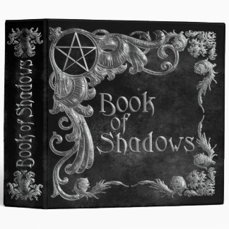 Book Of Shadows Black with Silver Highlights 3 Ring Binder