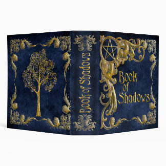 Book Of Shadows Blue with Gold  Highlights 3 Ring Binder