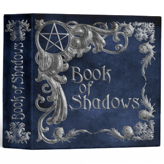 Book Of Shadows Blue with Silver Highlights Binder
