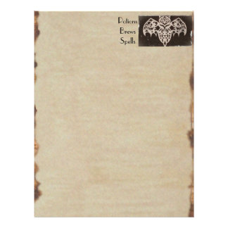 Book of Shadows BOS Spooky Antique Haunted House Flyer