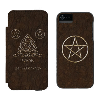 Book of Shadows Brown iPhone SE/5/5s Wallet Case