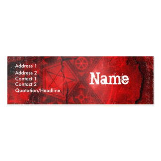 Book of Shadows Business Card Template