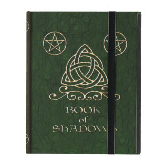 Book of Shadows Celtic Green iPad Cover