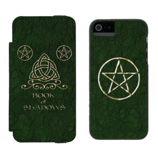 Book of Shadows Celtic Green Wallet Case For iPhone SE/5/5s