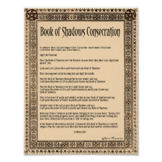 BOOK of SHADOWS CONSECRATION Poster