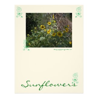 Book of Shadows Faerie Grimoire Page: Sunflowers Letterhead