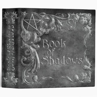 Book Of Shadows Gray with Silver Highlights Binder