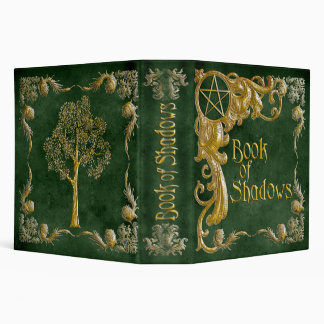 Book Of Shadows Green with Gold  Highlights Binder