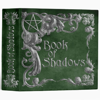 Book Of Shadows Green with Silver Highlights Binder