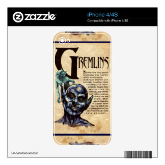 Book of Shadows GREMLINS iPhone Skin Skins For The iPhone 4