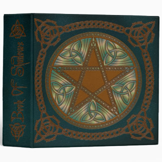 Book Of Shadows in Blue & Green Pentagram- 1 Binder