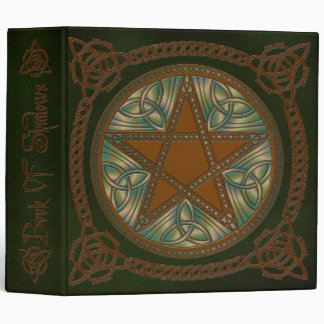 Book Of Shadows in Green - 1 3 Ring Binder