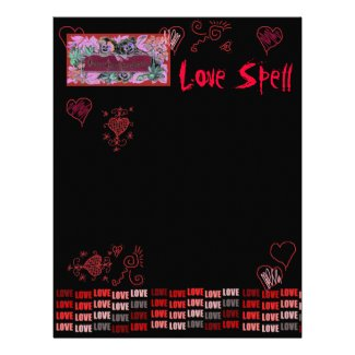Book of Shadows Love SpellPage for Faerie Grimoire Letterhead