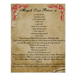 Book of Shadows MAGICK LOVE POTION #9 Poster