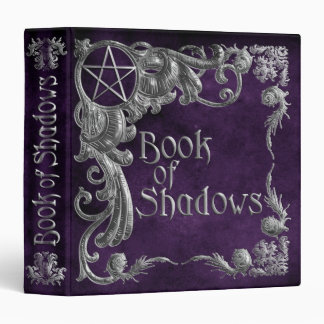 Book Of Shadows Purple Silver Highlight 1.5in 3 Ring Binder