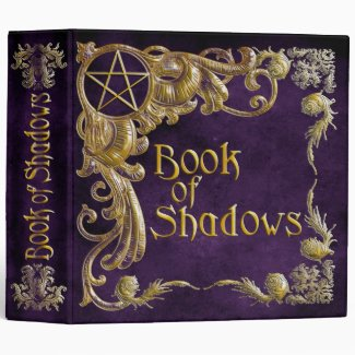 Book Of Shadows Purple with Gold Highlights Binder