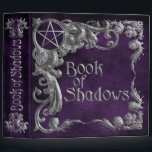 """Book Of Shadows Purple with Silver Highlights 3 Ring Binder<br><div class=""""desc"""">Book Of Shadows,  Purple with Silver Highlights,  binder to hold a witch&#39;s spells,  rituals,  ceremonies,  thoughts,  insights,  lore,  and discovers.</div>"""