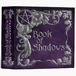 Book Of Shadows Purple with Silver Highlights 3 Ring Binder