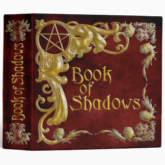 Book Of Shadows Red with Gold  Highlights Binder