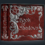 """Book Of Shadows Red with Silver Highlights Binder<br><div class=""""desc"""">Book Of Shadows,  Red with Silver Highlights,  binder to hold a witch&#39;s spells,  rituals,  ceremonies,  thoughts,  insights,  lore,  and discovers.</div>"""