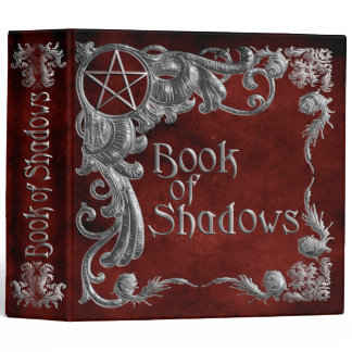 Book Of Shadows Red with Silver Highlights Binder