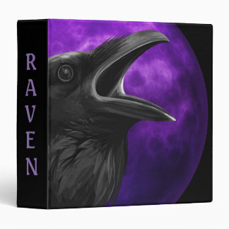 Book Of Shadows with Raven 3 Ring Binders