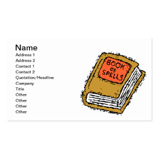 Book Of Spells Business Card Template
