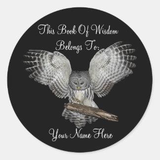 Book Of Wisdom Book Plate Sticker