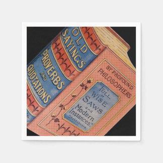 Book Old Sayings Teacher Retirement Grandparents Paper Napkin