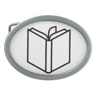 Book Oval Belt Buckle
