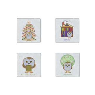 Book Owlie stone magnets Stone Magnet