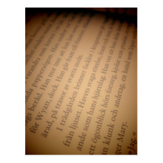 Book page postcard