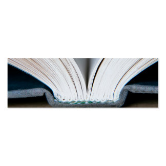 Book Pages (package of 20 small bookmarks) Mini Business Card
