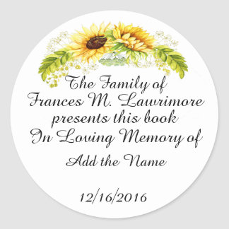 Book Plate In Memoriam Sticker