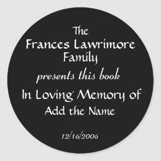 Book Plate Sticker by SRF