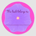Book Plate Sticker (Lilac Pansy)