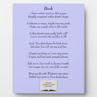 Book Poetry Plaque