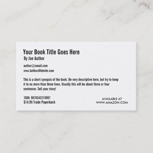 book promotion business card template zazzle com