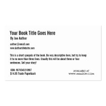 Book Promotion Business Card Template