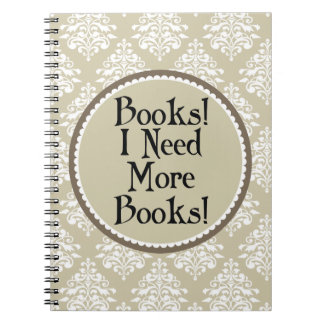 Book Quote Damask Reading Notes Journal Spiral Notebook