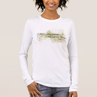 Book Quote Ladies Blouse Long Sleeve T-Shirt