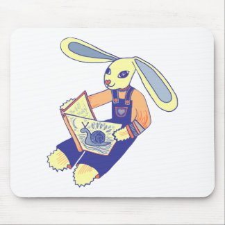 Book Reading Bunny Mouse Pad