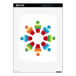Book Reading Circle People Team Icon Decal For iPad 2