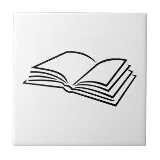 Book reading small square tile