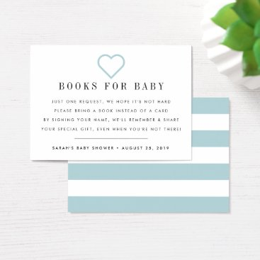 Valentines Themed Book Request | Baby Shower Invitation Insert Card