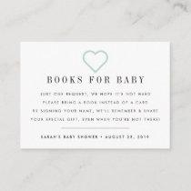 Book Request | Baby Shower Invitation Insert Card