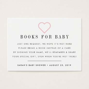 Toddler & Baby themed Book Request | Baby Shower Invitation Insert Card