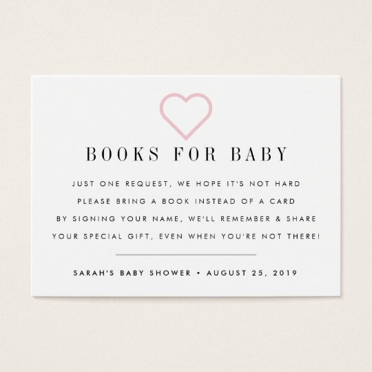 Book request baby shower invitation insert card zazzle book request baby shower invitation insert card filmwisefo