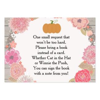 Book Request Card - Pumpkin Pink Floral Rustic