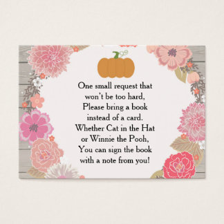 Book Request Card - Pumpkin Pink Floral Rustic